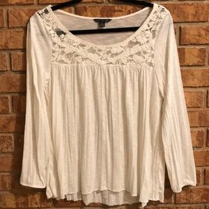 American Eagle Outfitters Sheer Pleated Top